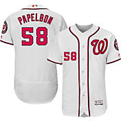Majestic Men's Authentic Washington Nationals Jonathan Papelbon #58 Home White Flex Base On-Field Jersey