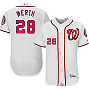 Majestic Men's Authentic Washington Nationals Jayson Werth #28 Home White Flex Base On-Field Jersey