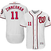 Majestic Men's Authentic Washington Nationals Ryan Zimmerman #11 Home White Flex Base On-Field Jersey