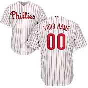 Majestic Men's Custom Cool Base Replica Philadelphia Phillies Home White Jersey
