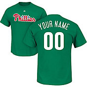 Majestic Men's Custom Philadelphia Phillies Green T-Shirt