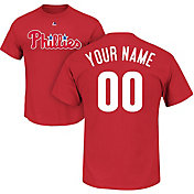 Majestic Men's Custom Philadelphia Phillies Red T-Shirt