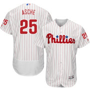 Majestic Men's Authentic Philadelphia Phillies Cody Asche #25 Home White Flex Base On-Field Jersey