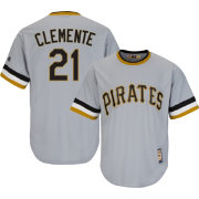 Majestic Men's Replica Pittsburgh Pirates Roberto Clemente Cool Base Grey Cooperstown Jersey