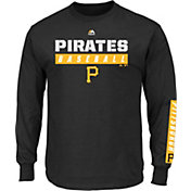 Majestic Men's Pittsburgh Pirates Proven Pastime Black Long Sleeve Shirt