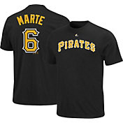 Majestic Triple Peak Men's Pittsburgh Pirates Starling Marte Black T-Shirt