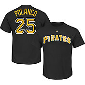Majestic Triple Peak Men's Pittsburgh Pirates Gregory Polanco #25 Black T-Shirt
