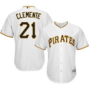 Majestic Men's Replica Pittsburgh Pirates Roberto Clemente #21 Cool Base Home White Jersey