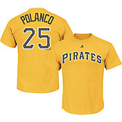 Majestic Triple Peak Men's Pittsburgh Pirates Gregory Polanco #25 Gold T-Shirt
