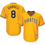 Majestic Men's Replica Pittsburgh Pirates Willie Stargell #8 Cool Base Alternate Gold Jersey