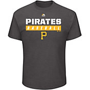 Majestic Men's Pittsburgh Pirates Proven Pastime Grey T-Shirt