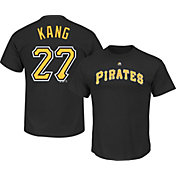 Majestic Triple Peak Men's Pittsburgh Pirates Jung-ho Kang Black T-Shirt
