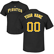 Majestic Men's Custom Pittsburgh Pirates Black T-Shirt
