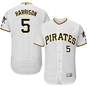 Majestic Men's Authentic Pittsburgh Pirates Josh Harrison #5 Home White Flex Base On-Field Jersey