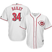 Majestic Men's Replica Cincinnati Reds Homer Bailey #34 Cool Base Home White Jersey