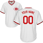 Majestic Men's Custom Cool Base Cooperstown Replica Cincinnati Reds 1978 White Jersey