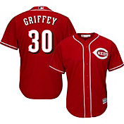 Majestic Men's Replica Cincinnati Reds Ken Griffey Jr. #30 Cool Base Alternate Red Jersey