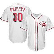 Majestic Men's Replica Cincinnati Reds Ken Griffey Jr. #30 Cool Base Home White Jersey