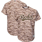 Majestic Men's Replica Cincinnati Reds Cool Base Alternate USMC Camo Jersey