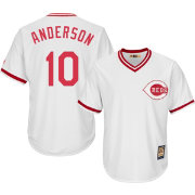 Majestic Men's Replica Cincinnati Reds Sparky Anderson Cool Base White Cooperstown Jersey