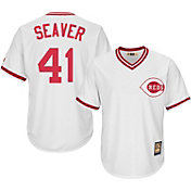 Majestic Men's Replica Cincinnati Reds Tom Seaver Cool Base White Cooperstown Jersey