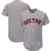 Majestic Men's Authentic Boston Red Sox Road Grey Flex Base On-Field Jersey