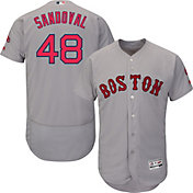 Majestic Men's Authentic Boston Red Sox Pablo Sandoval #48 Road Grey Flex Base On-Field Jersey