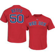 Majestic Men's Boston Red Sox Mookie Betts #50 Red T-Shirt