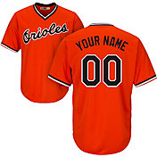 Majestic Men's Custom Cool Base Cooperstown Replica Baltimore Orioles 1965-66 Orange Jersey