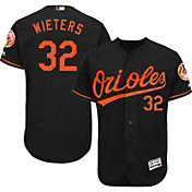 Majestic Men's Authentic Baltimore Orioles Matt Wieters #32 Alternate Black Flex Base On-Field Jersey