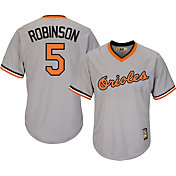Majestic Men's Replica Baltimore Orioles Brooks Robinson Cool Base Grey Cooperstown Jersey