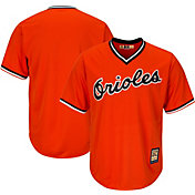 Majestic Men's Replica Baltimore Orioles Cool Base Grey Cooperstown Jersey