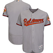 Majestic Men's Authentic Baltimore Orioles Road Grey Flex Base On-Field Jersey