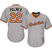 Majestic Men's Replica Baltimore Orioles Jim Palmer Cool Base Grey Cooperstown Jersey