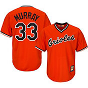 Majestic Men's Replica Baltimore Orioles Eddie Murray Cool Base Orange Cooperstown Jersey