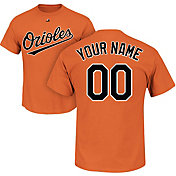 Majestic Men's Custom Baltimore Orioles Orange T-Shirt