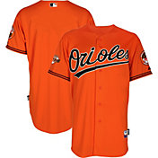 Majestic Men's Authentic Baltimore Orioles Cool Base Alternate Orange On-Field Jersey w/ 60th Anniversary Patch