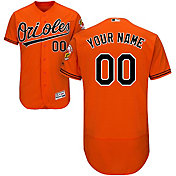 Majestic Men's Custom Authentic Baltimore Orioles Flex Base Alternate Orange On-Field Jersey