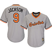 Majestic Men's Replica Baltimore Orioles Reggie Jackson Cool Base Grey Cooperstown Jersey