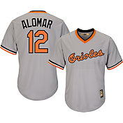 Majestic Men's Replica Baltimore Orioles Roberto Alomar Cool Base Grey Cooperstown Jersey