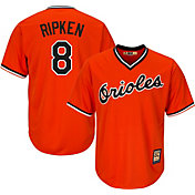 Majestic Men's Replica Baltimore Orioles Cal Ripken Jr. Cool Base Orange Cooperstown Jersey