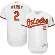 Majestic Men's Authentic Baltimore Orioles J.J. Hardy #2 Home White Flex Base On-Field Jersey
