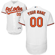 Majestic Men's Custom Authentic Baltimore Orioles Flex Base Home White On-Field Jersey