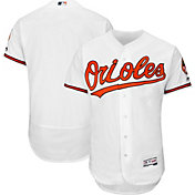Majestic Men's Authentic Baltimore Orioles Home White Flex Base On-Field Jersey