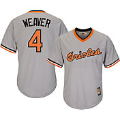 Majestic Men's Replica Baltimore Orioles Earl Weaver Cool Base Grey Cooperstown Jersey
