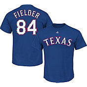 Majestic Triple Peak Men's Texas Rangers Prince Fielder Royal T-Shirt
