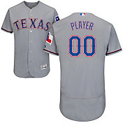 Majestic Men's Full Roster Authentic Texas Rangers Flex Base Road Grey On-Field Jersey