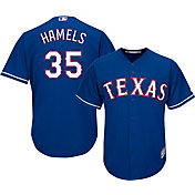 Majestic Men's Replica Texas Rangers Cole Hamels #35 Cool Base Alternate Royal Jersey