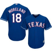 Majestic Men's Replica Texas Rangers Mitch Moreland #18 Cool Base Alternate Royal Jersey