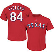 Majestic Triple Peak Men's Texas Rangers Prince Fielder Red T-Shirt